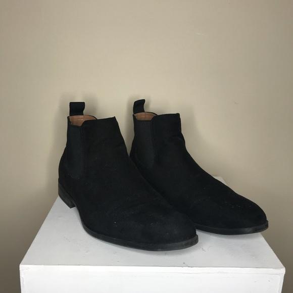 H\u0026M Shoes   Mens Hm Black Suede Chelsea